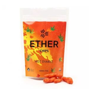 Ether Edibles Hot Diablo Chips 40Mg Thc